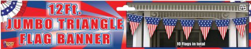 USA 12' Jumbo Triangle Decoration American United States Party Decoration